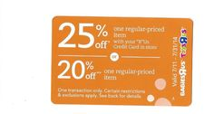 BabiesRus & ToyRus 25% or 20% OFF ~ July 31, 2014