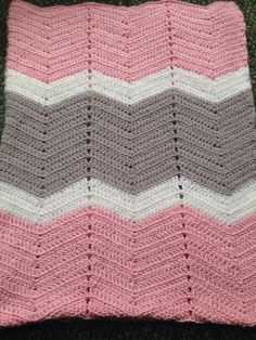 In stock Free Shipping Crocheted chevron by CriglersHomeCrafts