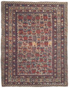 QASHQAI, Southwest Persian 5ft 2in x 6ft 10in 3rd Quarter, 19th Century  True artistic expression and creativity abound in this early antique Qashqai rug from the renowned Qashqai tribe of Southwest Persia.