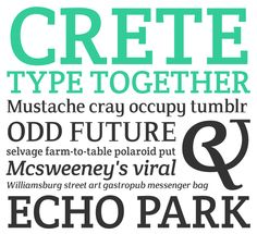 Crete type family from Type Together. #fonts #typography