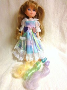 Vintage LADY LOVELY LOCKS doll MAIDEN FAIRHAIR 1986 TCFC with 3 PIXIE TAILS #DollswithClothingAccessories