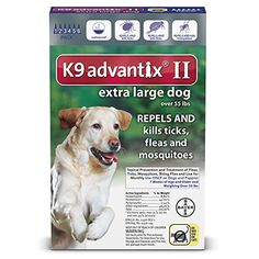 K9 Advantix II, Extra Large Dogs, Over 55-Pound, 6-Month ** Details can be found by clicking on the image. (This is an affiliate link)