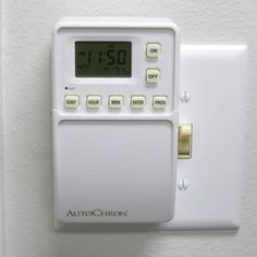 AutoChron Programmable Wall Switch Timer No Wiring Needed