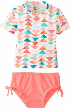 Osh Kosh Baby-Girls Infant Girls Multi Color 2 Piece Rashguard, Pink, 12 Months