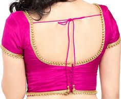 Readymade Designe Pink Color Brocade Silk Blouse by traditionindia