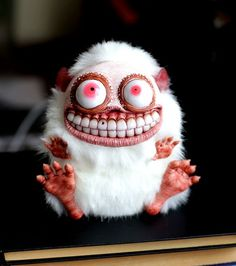 A 23 Year Old Russian Makes Creepy Yet Adorable Fantasy Dolls Creepy Toys, Creepy Cute, Clay Monsters, Little Monsters, Toy Art, Santani Dolls, Art Jouet, Arte Horror, Paperclay