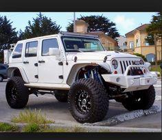White jeep.