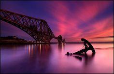 Forth Rail Bridge @ Sunset - Scotland by angus clyne