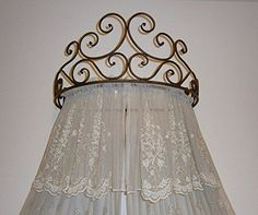 Metal-Wall-Teester-Bed-Canopy-Drapery-Crown-Hardware