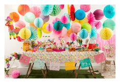Beautiful floral and colourful party decorations.