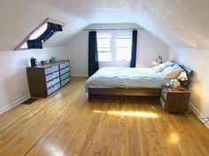 Attic bedroom #bedroom