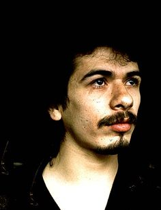 Carlos Santana is a Mexican and American rock guitarist. Santana became famous in the late 1960s and early 1970s with his band, Santana, which pioneered rock, Latin music and jazz fusion