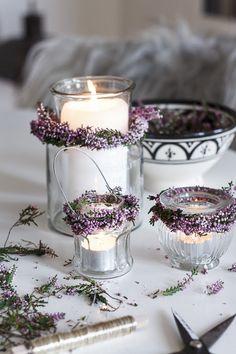 Amalie loves Denmark – Heidekranz bind Source by g_kleinert Deco Champetre, Wedding Decorations, Christmas Decorations, Deco Floral, Christmas Candles, How To Make Tea, Candle Lanterns, Decoration Table, Scented Candles
