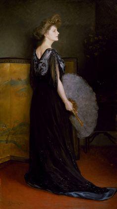 Julius LeBlanc Stewart, Portrait of Mrs Francis Stanton Blake, 1908