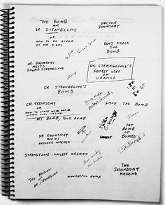 See Stanley Kubrick's List of Possible Titles for 'Dr. Strangelove'