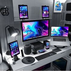 Desk Stand for Tablet . Desk Stand for Tablet . Gooseneck Stand Holder Mount for Desk Bed Ipad Kindle Computer Desk Setup, Gaming Room Setup, Pc Setup, Gaming Computer, Kid Desk, Computer Programming, Razer Gaming, Kids Computer, Gamer Setup