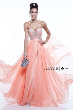 Alyce Paris | Prom Dress Style #6403 | Strapless Formal Dress | Beaded Bodice Prom Dress