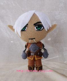 Dragon Age  Fenris 4 Inches Plush by kinkaku on Etsy, $20.00