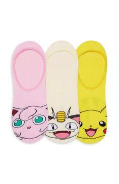 Soquetes personagens Pokemon