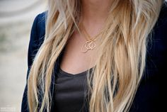 Geometric Circle Necklace by BoutiqueMinimaliste on Etsy