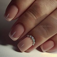 french nails gel New Years Classy Nails, Cute Nails, Pretty Nails, Bride Nails, Wedding Nails, French Nails, Pink Nails, Gel Nails, Nagel Hacks