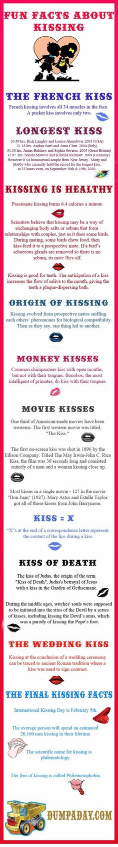 Kisses 4 Us, a beautiful custom box filled with fun, flirty and romantic kisses; trivia, tips and fun facts to enhance each kiss; ideas for holidays, gifts. The More You Know, Did You Know, Need To Know, My Funny Valentine, Valentines, Kissing Facts, Wtf Fun Facts, Random Facts, Random Things