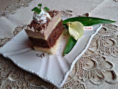 Na tento víkend veľmi chutné rezy, ktoré sa inak volajú Somloi galuska /Maďarsko/..môžu sa podávať len tak zmiešané tmavé aj biele korpusy, posypané orechami, popolievané čokoládou a ozdobené šľahačkou..ja som ich urobila v podobe rezov..