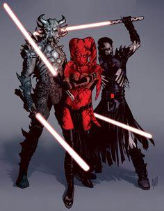 Star Wars Legacy #1 artwork by Adam Hughes