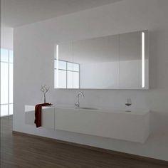 Die 12 besten Bilder von Spiegelschrank mit Schiebetüren | Bathroom ...