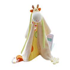 SHILOH Comforter Toys Baby Rattle Animal New Born Infant Gift Giraffe