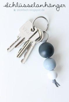 Perlenladen Online Bastelideen #KeyChainswooden