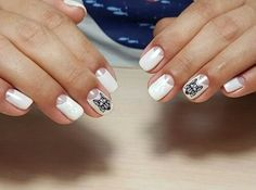 moon manicure spring nail ideas for the spring time! - fashion and White Nail Art Ideas Spring White Nail Art Ide Grey Gel Nails, Mint Nails, Spring Nail Trends, Spring Nails, Nailart, Moon Manicure, Gel Nagel Design, Summer Acrylic Nails, Gel Color