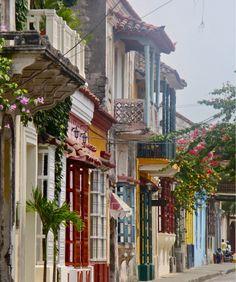 Colorful Streetscape, Cartagena, Colombia