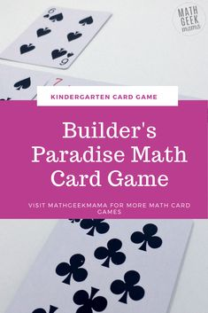 This fun and easy Kindergarten card game is a low-prep way to practice important math skills. Work on sorting, sequencing and counting. All you need is a deck of cards! #mathcardgame #kindergartenmath