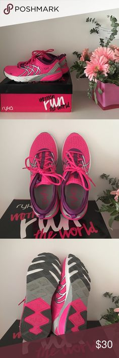 Brand new Ryka Nalu running shoes Brand new Ryka nalu running shoes in pink and silver details. Super cute. Perfect for your workouts to get that summer body. Size 7. True to size. Never worn but tried on. Shoes Athletic Shoes
