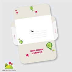 Free printable envelop. we make a perfect pear!