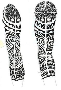 half sleeve tattoo designs for women sketch - Google Search