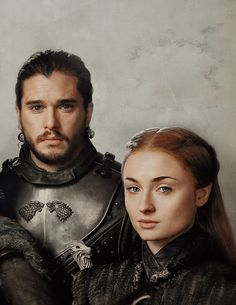King Jon Snow and Sansa Stark (GoT S7)