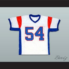 """Thad Castle Blue Mountain State TV Show Football Jersey NEW Stitch Sewn. SHIPPING TIME IS ABOUT 3-5 weeks I HAVE ALL SIZES and can change Name and Number (Width of your Chest)+(Width of your Back)+ 4 to 6 inches to account for space for a loose fit. Example: 18"""" wide chest plus 18"""" wide back plus 4"""" of space, would be a size 40"""". Please consider ordering a larger size, if you plan to wear protective sports equipment under the jersey. size chart chest: XS 30""""-32"""" Chest Measurement (76-81 cm)…"""