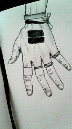 Chris's hand