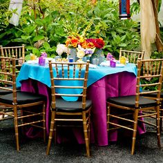 {Real Palettes} Moroccan Bridal Shower: Orange and Teal Color Explosion