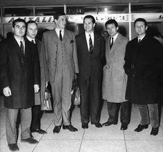 1964 Sebring : Lorenzo Bandini, Big John, Mike Parkes, Umberto Maglioli, Carlo-Mario Abate, Nino Vaccarella. (ph: wordpress.com)