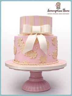 Baby Girls Christening Cake by Scrumptious Buns (Samantha), via Flickr