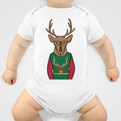 Hipster Deer! Onesie by Salina Ayala - $20.00