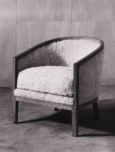 sheepskin armchair by Jean Michel Frank, I ld like to sit in