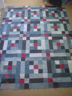Denim quilt - 9 patch w sashing