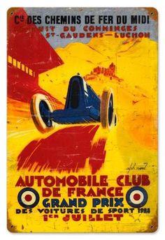 France Grand Prix Tin Sign