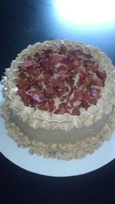 French toast maple bacon cake