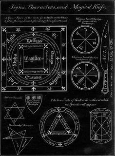 Magical Seals and Symbols.