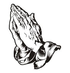 Praying hands tattoo vector 1804198 - by heraldvector on VectorStock®